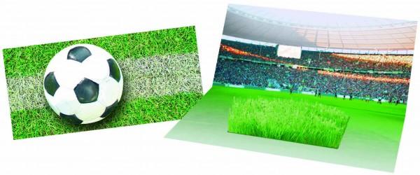 Mini-Arena Karte mit Fußball-Rasen